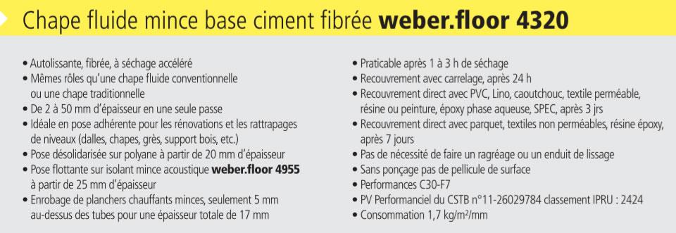 Fiche produit weber floor 4320